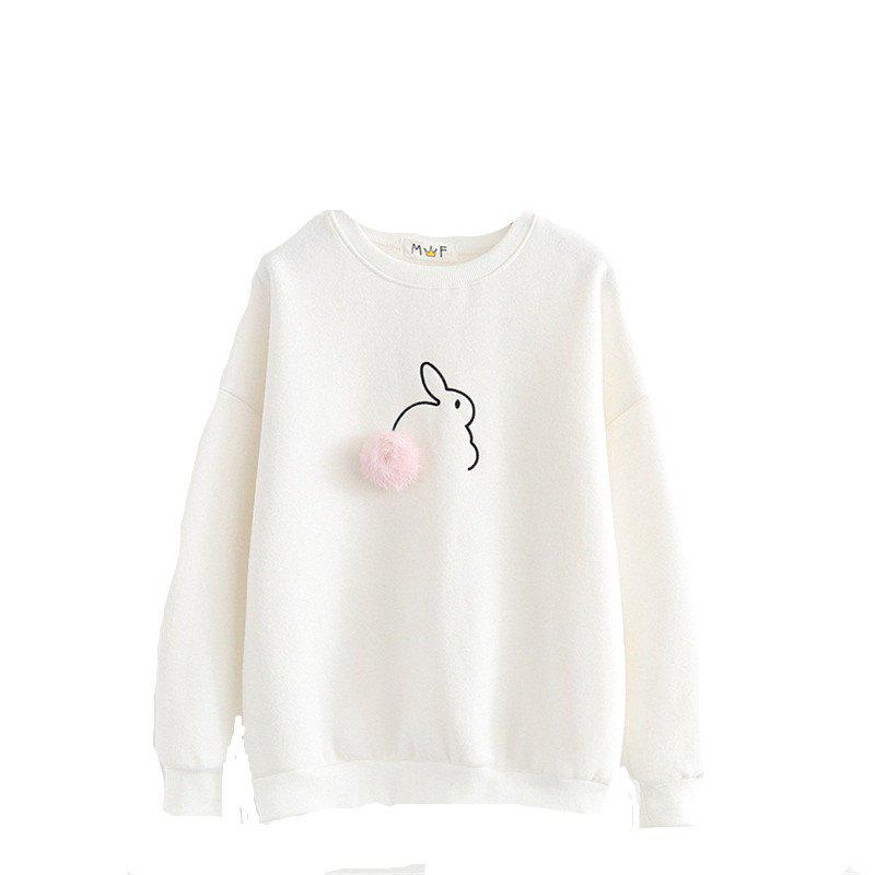 Новая леди Thicken Little Rabbit Sweatshirt