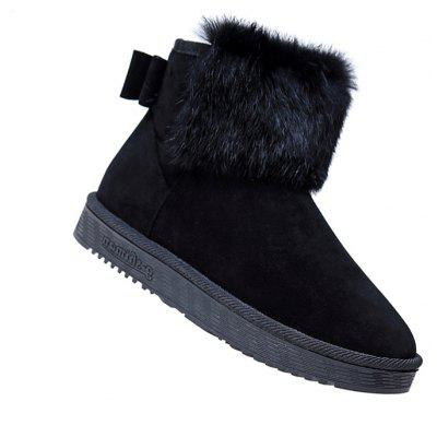 Lady Casual Trend for Fashion SuperStar Warm Winter Suede Ankle Boots