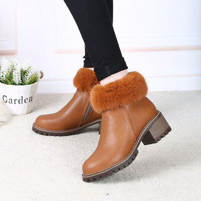 Lady Casual Trend for Fashion Leder SuperStar Lace Up Warm Winter Suede Ankle