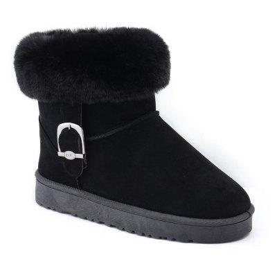 Lady Casual Trend for Fashion SuperStar Snow Warm Winter Suede Ankle Boots