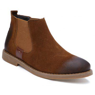 Men Casual Trend for Fashion Slip on Suede Ankle Boots Shoes