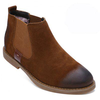 Men Casual Trend for Fashion Slip on Suede Snow Warm Winter Ankle Boots Shoes