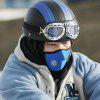 Cycling Equipment Face Windproof Outdoor Cycling Mask, Riding Bicycle Skiing Fleece Winter Warm Half Face Covering - BLUE