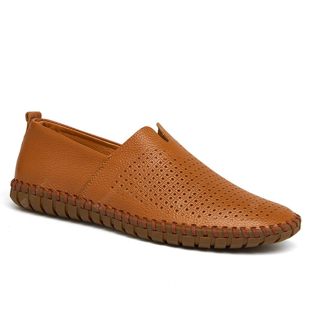 Sewing Pattern Mens Casual Slip on Loafers Vintage Genuine Leather ...