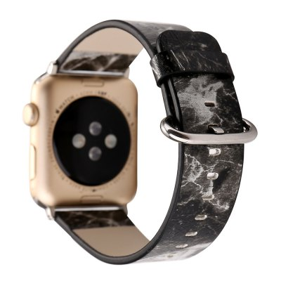 Buy 42MM Marble Design Leather Watch Band for Apple Watch Wrist Watch Strap Belt for iwatch Series 1 2 3, BLACK, Consumer Electronics, Smart Watch Accessories for $13.28 in GearBest store