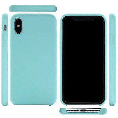 Pure Color Plain Weave Rear Case Cover for iPhone X