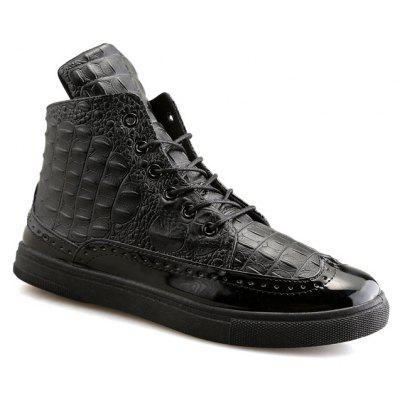 Autumn and Winter New Leisure Men High Help Fashion Alligator Shoes