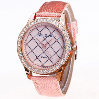 ZhouLianFa New Trend Crystal Diamond Business Rose Gold Mesh Quartz Table with Gift Box