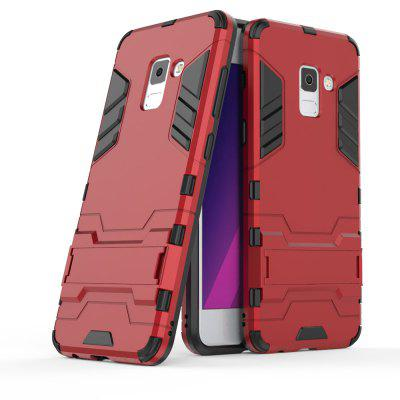Silicone PC Armor Kickstand Case for Samsung Galaxy A5 2018