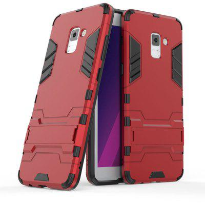 Silicone PC Armor Kickstand Case for Samsung Galaxy A7 2018