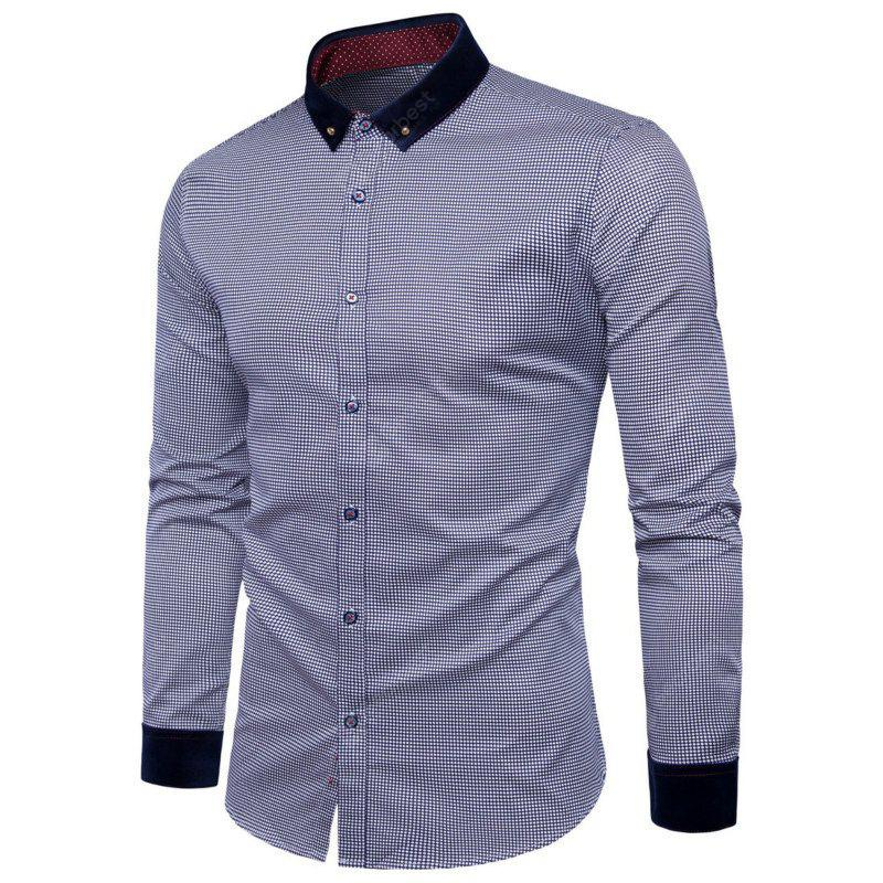 New Fashion Small Round of Men'S Wear Long Sleeved Shirt Y958