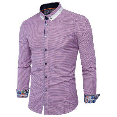 New British Fashion Small Style Men'S Long Sleeved Shirt Y934