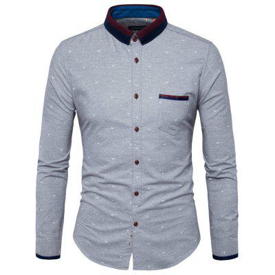 Foreign Trade Fashion Collar Coloured Men'S Long Sleeved Shirt Y95