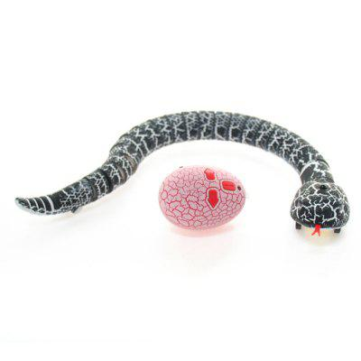 Buy BLACK Infrared Remote Control RC Black Rattlesnake Snake Fun Joke Gag Toy USB Charging for $13.99 in GearBest store