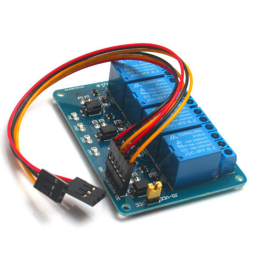 4 Channel DC 5V Relay Module for Arduino Raspberry Pi DSP AVR ... on relay module connections, relay module connector, relay module arduino, switch wiring, keypad wiring, relay module circuits, ignition coil wiring, control panel wiring, starter wiring,