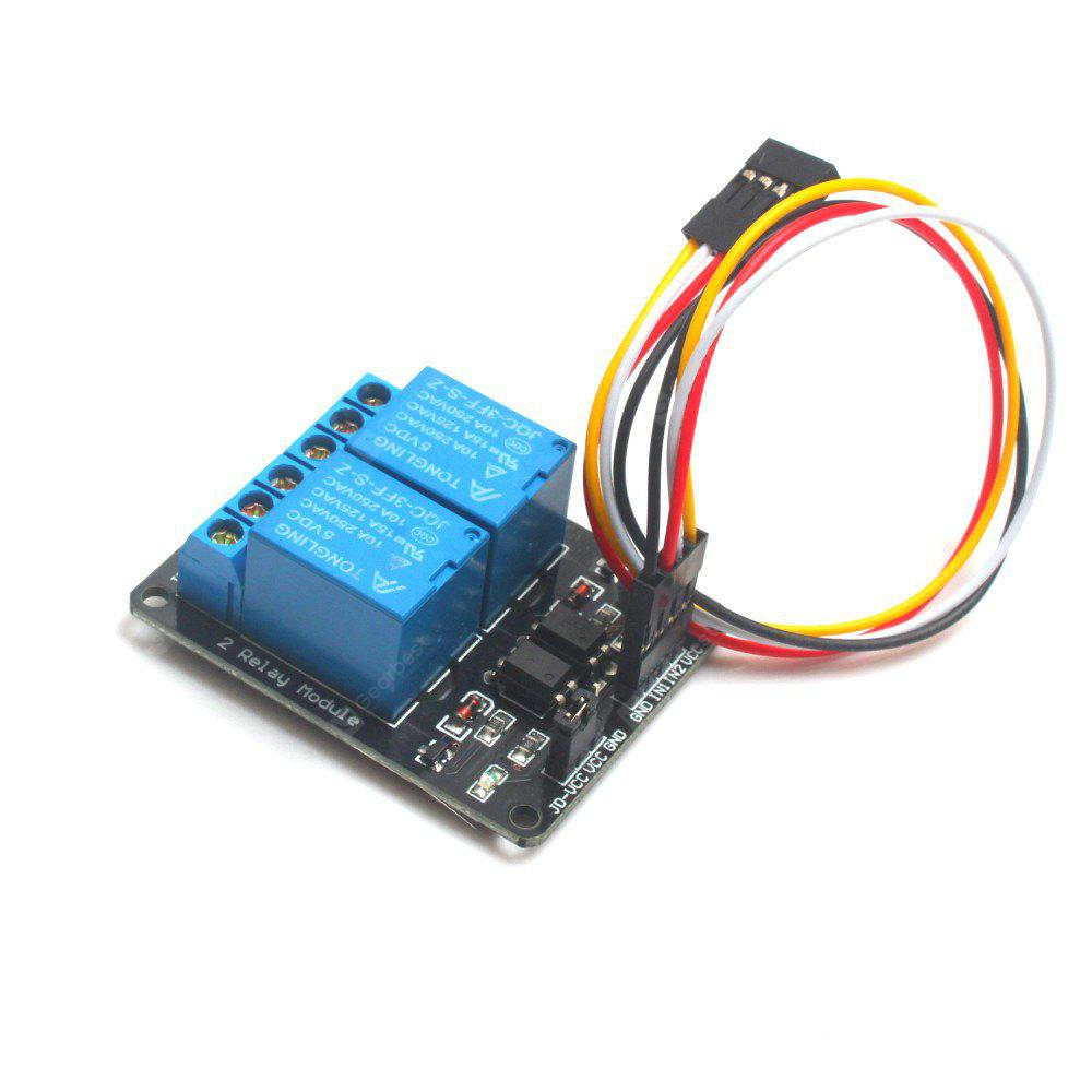 2 Channel Dc 5v Relay Module With Optocoupler Low Level Trigger Wiring A Expansion Board For Arduino 366 Free Shipping