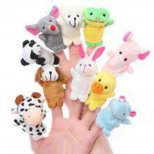 Baby Toy Finger Puppet Cloth Plush Doll Educational Hand Cartoon Animal 10Pcs