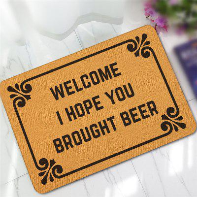 Creative Interesting Letter Pattern Antiskid Floor Mat