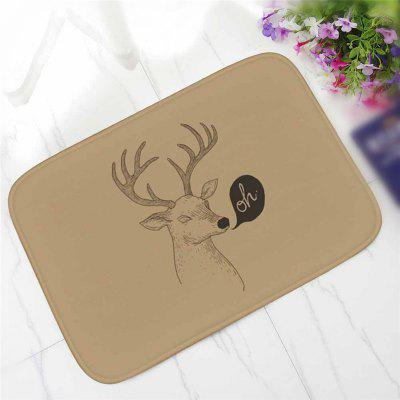 Творческий Antlers Fun Pattern Antiskid Floor Mat