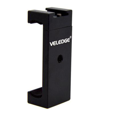 VELEDGE VD-P1 Univeral Tripod Mount Adapter Clip Holder with Cold Shoe for Phone