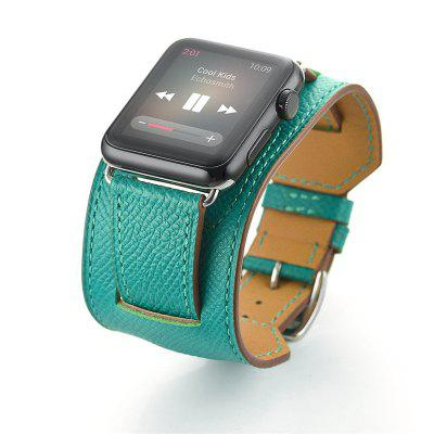 Genuine Leather Cuff Bracelet Wrist Strap for Apple Watch Series 1/2/3 42MM