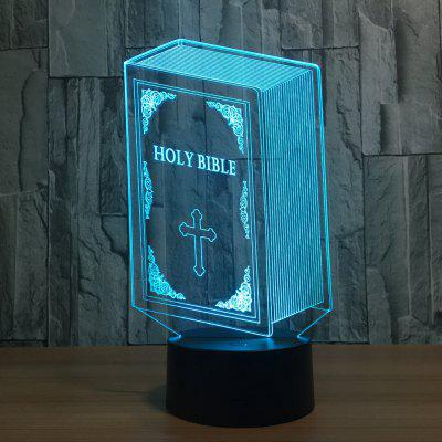 YEDUO Holy Bible 3D 7 Color Led Night Lamps For Kids Touch TableDecorative Lights<br>YEDUO Holy Bible 3D 7 Color Led Night Lamps For Kids Touch Table<br><br>Material: Acrylic<br>Package Contents: 1 x Night<br>Package size (L x W x H): 22.00 x 15.00 x 8.00 cm / 8.66 x 5.91 x 3.15 inches<br>Package weight: 0.4000 kg<br>Power Supply: USB Cable<br>Product size (L x W x H): 22.00 x 15.00 x 6.00 cm / 8.66 x 5.91 x 2.36 inches<br>Product weight: 0.3800 kg