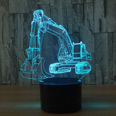 YEDUO Excavator 7 Color Lamp 3D Visual Led Night Lights For Kids Touch Usb Table  Baby Sleeping Nightlight
