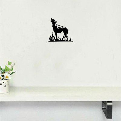 DSU Loudmouthed Wolf Flame Wall Sticker Креативная мультяшная стена для животных Декоративная наклейка