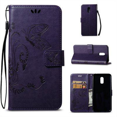 Butterfly and Floral Leather Case for Samsung Galaxy J7 Plus