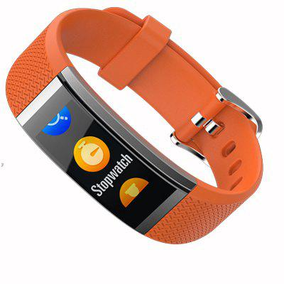 G18S Color Screen Pedometer Smart Wristband Heart Rate Monitor Activity Tracker Smart Bracelet Fitness TrackerSmart Watches<br>G18S Color Screen Pedometer Smart Wristband Heart Rate Monitor Activity Tracker Smart Bracelet Fitness Tracker<br><br>Alert type: Vibration<br>Band material: TPU<br>Battery  Capacity: 65 mAh<br>Bluetooth Version: Bluetooth 4.0<br>Case material: Plastic<br>Compatability: Android 4.4, IOS 7.0<br>Compatible OS: IOS, Android<br>Functions: Avoid phone loss, Message, Sleep management, Measurement of heart rate, Message management, Notification of app, Incoming calls show, Pedometer, Date, Alarm Clock, Time<br>Language: English<br>Operating mode: Touch Screen<br>Package Contents: 1 x Host,1 x Chinese and English instructions,1 x Charging line<br>Package size (L x W x H): 12.00 x 6.50 x 6.00 cm / 4.72 x 2.56 x 2.36 inches<br>Package weight: 0.1000 kg<br>People: Male table<br>Screen type: OLED<br>Shape of the dial: Rectangle<br>Waterproof: Yes