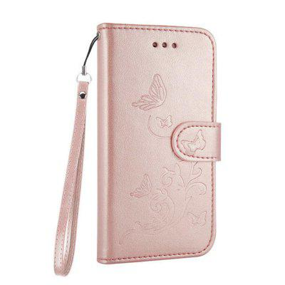 Wkae Embossed Flowers Retro Style Leather Pouch Case Cover for iPhone 7 / 8