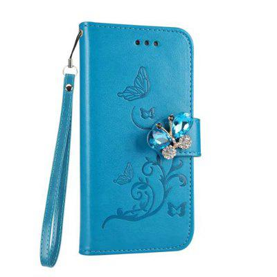 Embossing Pattern Flip Stand Retro Faux Leather Case with Rhinestone Clasp for Samsung Galaxy S8 Plus