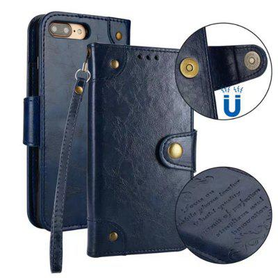 Wkae Solid Color Retro PU Leather Case with Multi Card Slots for iPhone 7 Plus / 8 Plus