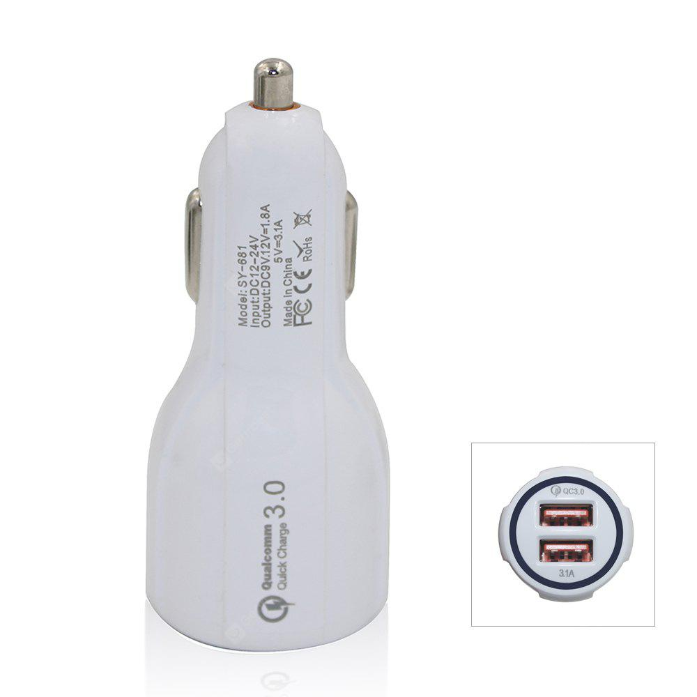 QC3.0 5V/3.1A Dual USB Quick Charge Fast Car Charger