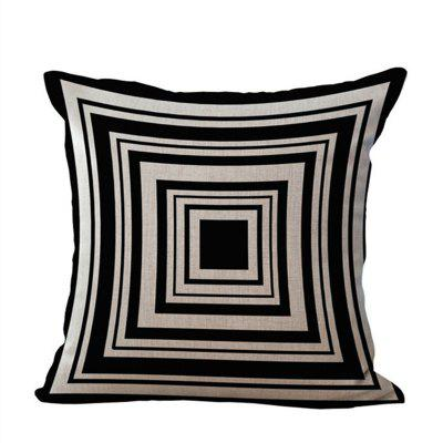 Home Decorative Pillowcase Simple Geometric Pattern Sofa Cushion