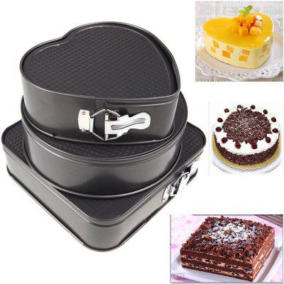3PCS Happy Birthday Cake Moulds Set Simple Durable Non-sticky Baking Tool