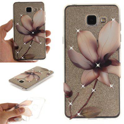 Magnolia Diamond Soft Clear IMD TPU Phone Casing Mobile Smartphone Cover Shell Case for Samsung A3 2016 A310