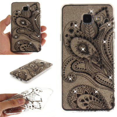 Peacock Flower Diamond Soft Clear IMD TPU Phone Casing Mobile Smartphone Cover Shell Case for Samsung A3 2016 A310