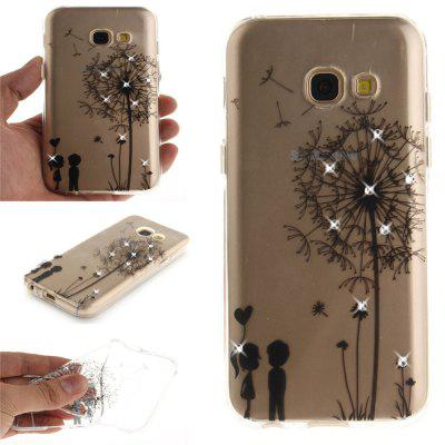 Dandelion Diamond Soft Clear IMD TPU Phone Casing Mobile Smartphone Cover Shell Case for Samsung A5 2017 A520