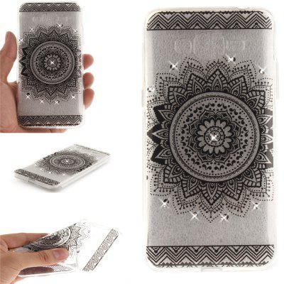 Black Datura Diamond Soft Clear IMD TPU Phone Casing Mobile Smartphone Cover Shell Case for Samsung J2 Prime