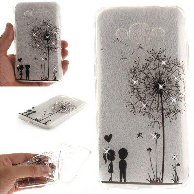 Dandelion Diamond Soft Clear IMD TPU Phone Casing Mobile Smartphone Cover Shell Case for Samsung J2 Prime