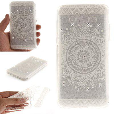 The White Mandala Diamond Soft Clear IMD TPU Phone Casing Mobile Smartphone Cover Shell Case for Samsung J2 Prime