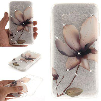 Magnolia Diamond Soft Clear IMD TPU Phone Casing Mobile Smartphone Cover Shell Case for Samsung J2 Prime