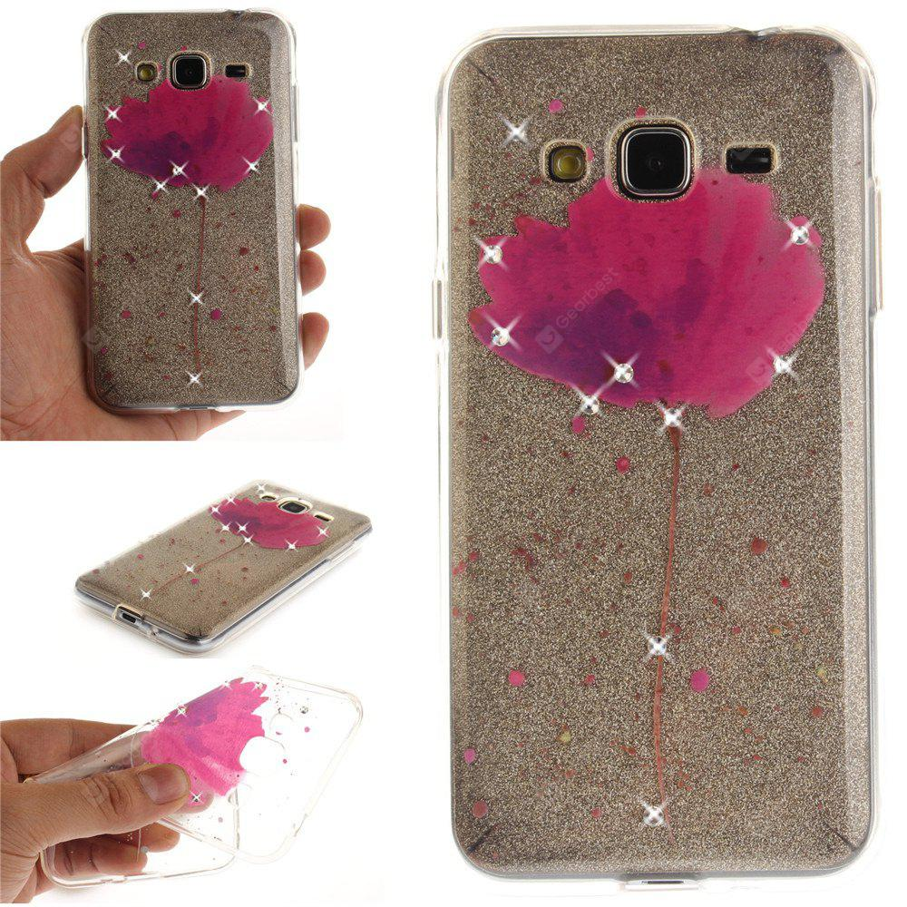 Song For Orchid Diamond Soft Clear IMD TPU Phone Casing Mobile Smartphone Cover Shell Case for Samsung J310  J3 2016