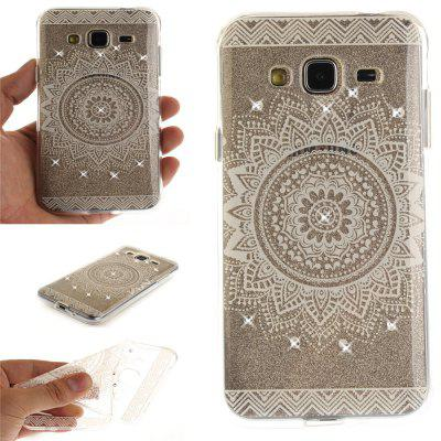 The White Mandala Diamond Soft Clear IMD TPU Phone Casing Mobile Smartphone Cover Shell Case for Samsung J310 J3 2016
