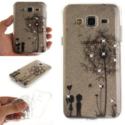 Dandelion Diamond Soft Clear IMD TPU Phone Casing Mobile Smartphone Cover Shell Case for Samsung J310 J3 2016