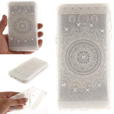 The White Mandala Diamond Soft Clear IMD TPU Phone Casing Mobile Smartphone Cover Shell Case for Samsung J5 J510 2016
