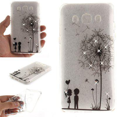 Dandelion Diamond Soft Clear IMD TPU Phone Casing Mobile Smartphone Cover Shell Case for Samsung J5 J510 2016