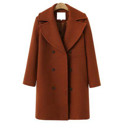 Long Autumn and Winter'S Wool Coat
