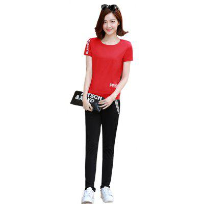 Women's Fashion Summer Short-Sleeved Suit